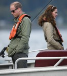 Royal Tour - Boat fishing trip at Skidegate Youth Centre, Haida Gwaii, BC, Canada, 30/09/16