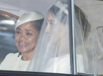 Meghan Markle and her mother Doria Ragland leave Cliveden House Hotel to make the journey to Windsor Castle for her wedding to Prince Harry