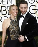 Sam Taylor-Johnson and actor Aaron Taylor-Johnson arrive at the 74th Annual Golden Globe Awards, Golden Globes, in Beverly Hills, Los Angeles, USA, on 08 January 2017. Photo: Hubert Boesl  - NO WIRE SERVICE - Photo: Hubert Boesl/
