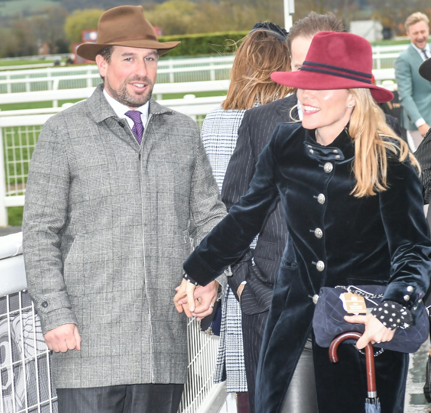 Peter Phillips and his wife Autumn Phillips arrive for Gold Cup day, The Festival  at Cheltenham Racecourse  2019, Cheltenham Glos