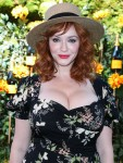 Christina Hendricks arrives at the 10th Annual Veuve Clicquot Polo Classic Los Angeles held at Will Rogers State Historic Park on October 5, 2019 in Pacific Palisades, Los Angeles, California, United States.