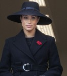 Meghan, Duchess of Sussex at the balcony of  the Foreign and Commonwealth Office at Whitehall in Londen, on November 10, 2019, to attend the National Service of Remembrance at the Cenotaph Photo: Albert Nieboer /  Netherlands OUT / Point de Vue OUT |