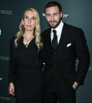 Sam Taylor-Johnson and husband Aaron Taylor-Johnson arrive at the Los Angeles Special Screening Of Momentum Pictures' 'A Million Little Pieces' held at The London Hotel West Hollywood at Beverly Hills on December 4, 2019 in West Hollywood, Los Angeles, Ca