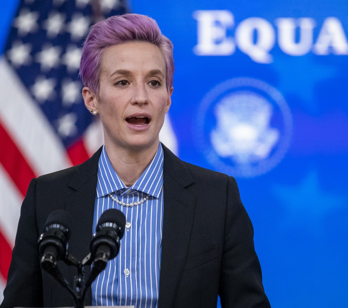 US President Joe Biden participates in an event to mark Equal Pay Day