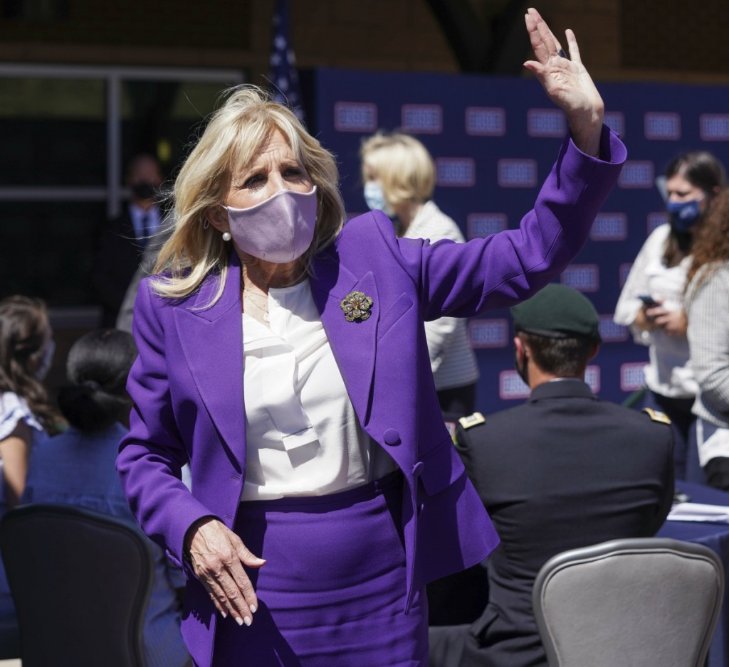 USA - 2021 - First Lady Dr. Jill Biden Visits Fort Carson in Colorado Springs