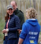 Britain's Prince William and Catherine, Duchess of Cambridge visit St Andrews to try land yachting