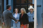 USA - 2021 - First Lady Dr. Jill Biden and Brad Paisely tour a pop-up vaccination site in Nashville