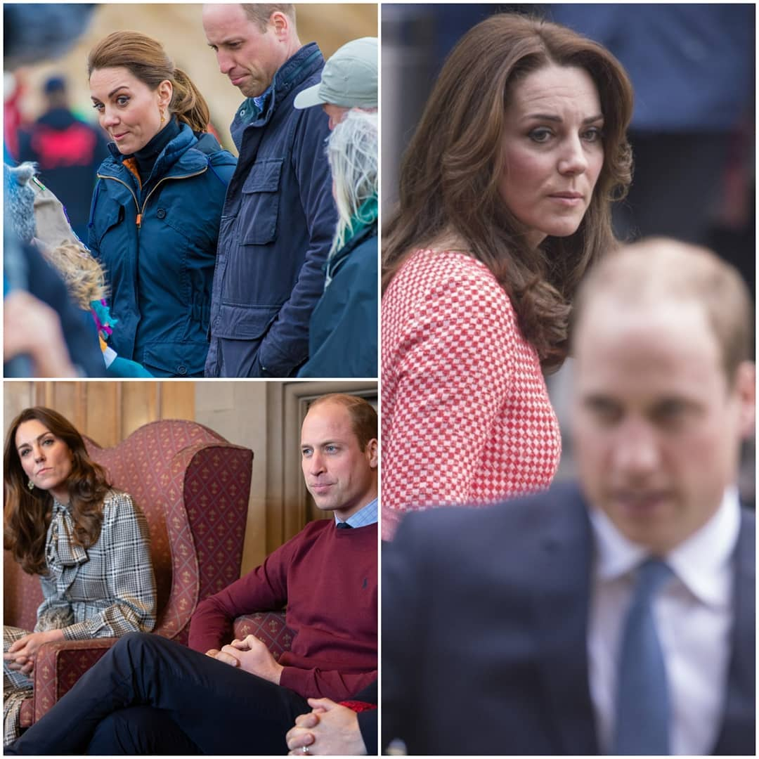 Collage of Kate and William