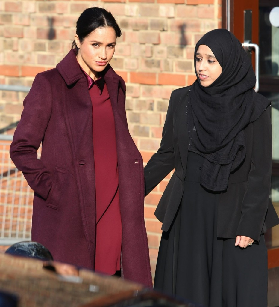 Meghan, Duchess of Sussex is all smiles at the Hubb Community Kitchen in London