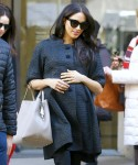 Meghan Markle is see leaving the Met Breuer Museum ahead of her baby shower