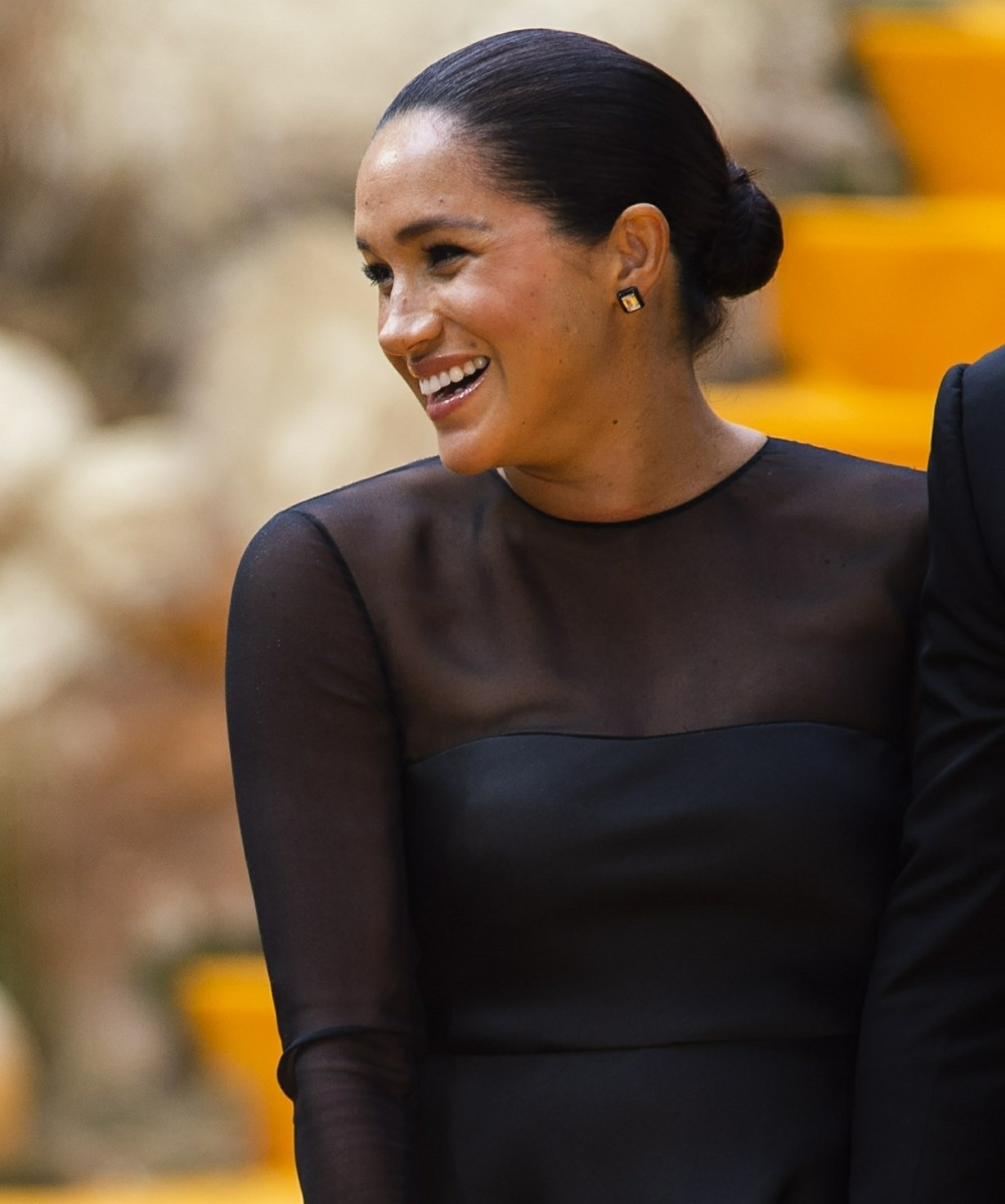 The Duke and Duchess of Sussex is at The Lion King Premiere