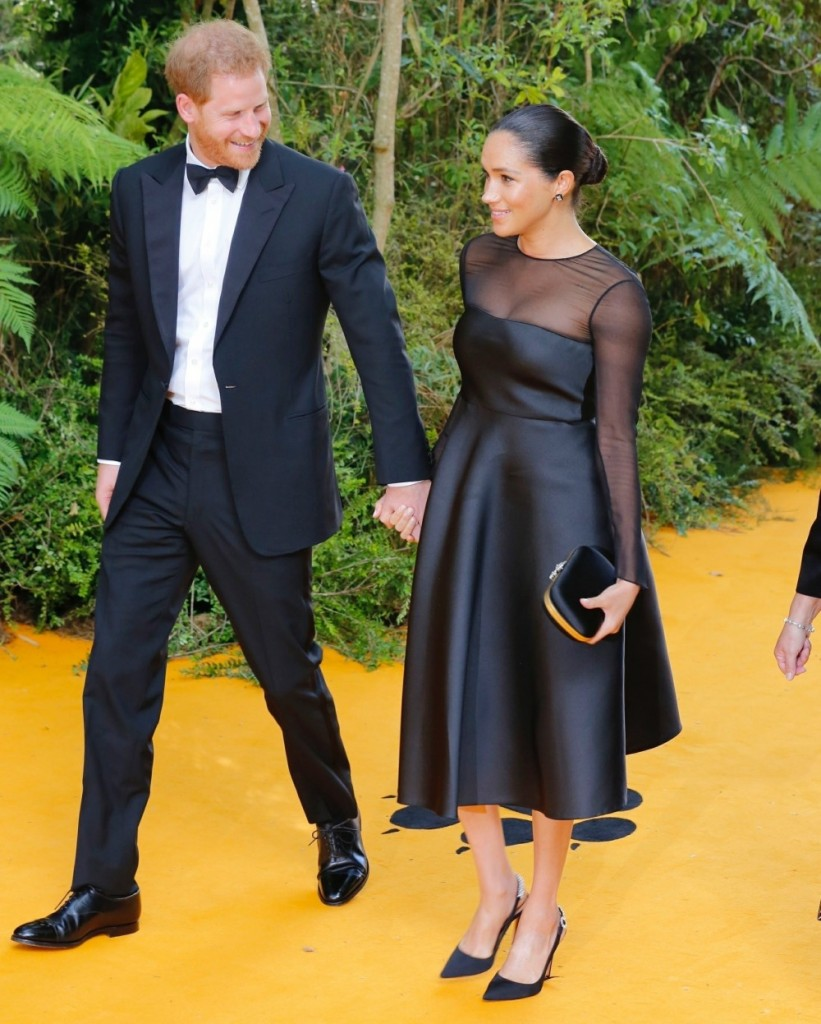 """Prince Harry, Duke of Sussex and Meghan, Duchess of Sussex at the European Premiere of Disney's """"The Lion King"""""""
