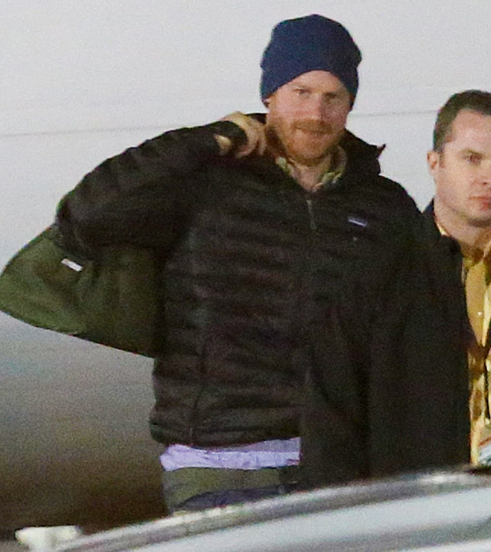 Prince Harry arrives in Victoria, BC to meet up with his wife Meghan Markle