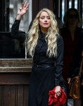 Amber Heard and Johnny Depp arrive for their last day at the Royal Courts of Justice