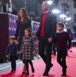 The Cambridge Family attend a special Christmas Pantomime performance at London's Palladium Theatre