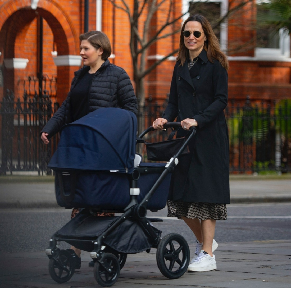 Pippa Matthews is seen out for first time with her new baby girl Grace, smiling away as she ventured out during the COVID-19 lockdown