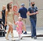 Irina Shayk and Bradley Cooper reunite to take daughter Lea for a walk
