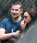 Friendly exes Irina Shayk and Bradley Cooper pictured chatting at a local park in NYC!