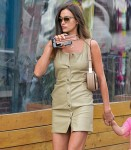 Irina Shayk is all legs while out with daughter Lea in New York City