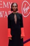 Letitia Wright at the 2021 Virgin Media British Academy Awards
