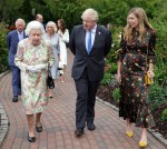 Queen Elizabeth II speaks to Joe and Jill Biden at the G7 Summit