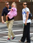 Bradley Cooper and Irina Shayk pictured with little Lea in NYC