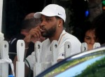 Tristan Thompson has lunch with the boys at The Ivy