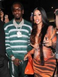 Cardi B proudly flaunts her growing bump while grabbing dinner with Offset after surprise Baby Announcement!