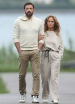 Jennifer Lopez and Ben Affleck go for an evening stroll in The Hamptons