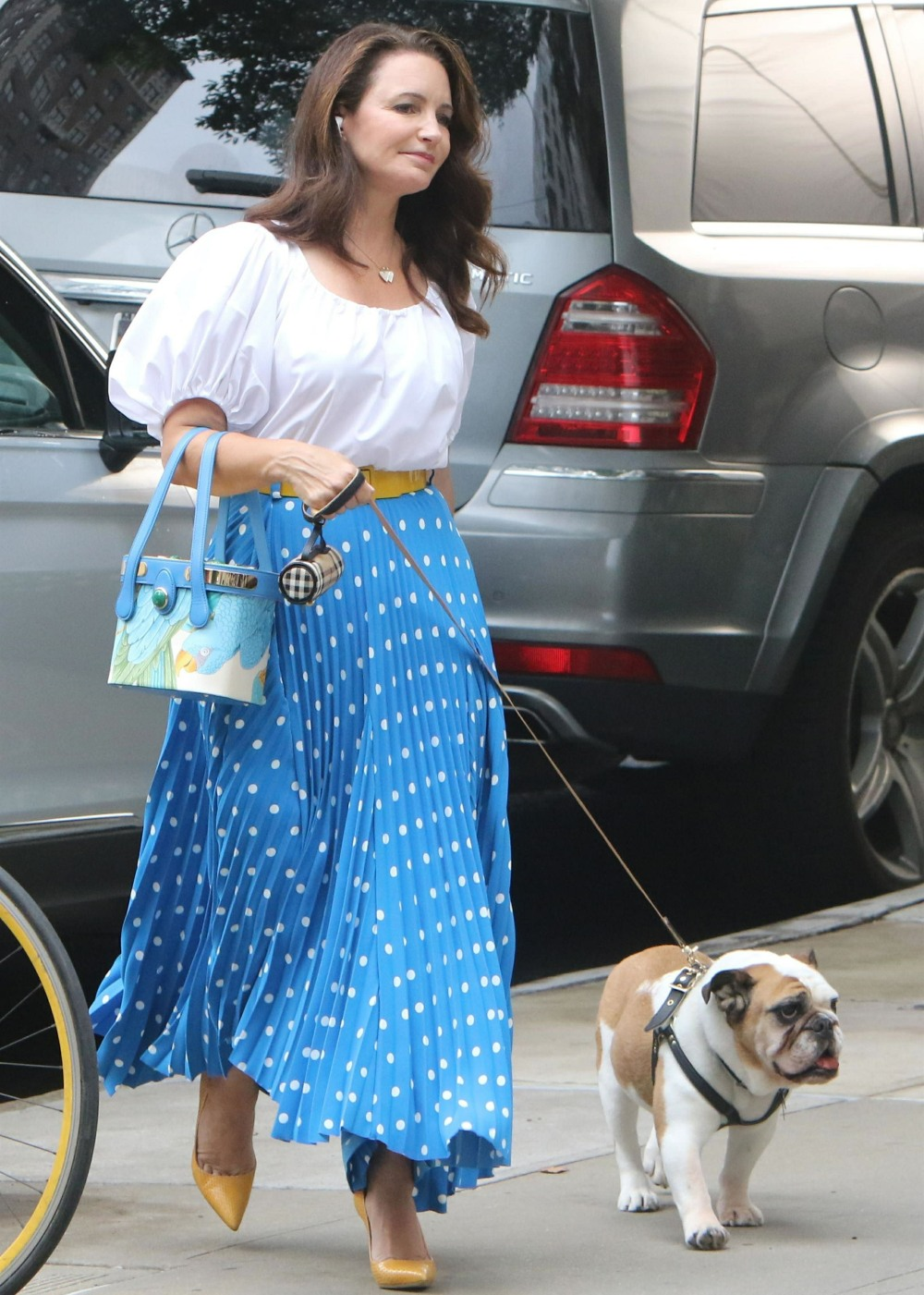 """Kristin Davis back to work on """"And Just Like That"""" with Sarah Jessica Parker"""