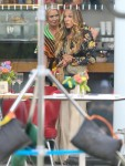 Sarah Jessica Parker, Cynthia Nixon, and Nicole Ari Parker filming 'And Just Like That...'