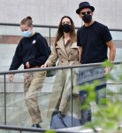 Hollywood Actress Angelina Jolie looked chic and stylish as she arrived on holiday out in Venice