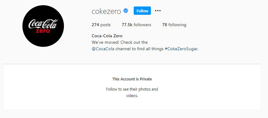 CokeZeroInstagram