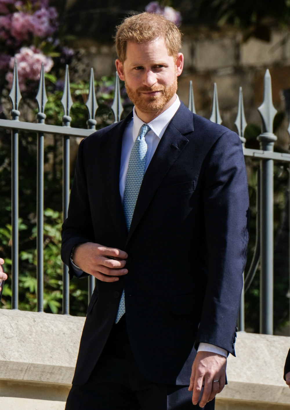 Prince Harry, The Duke of Sussex arrives at the Easter Sunday church service at St.George's Chapel in Windsor Castle on Sunday April 21, 2019
