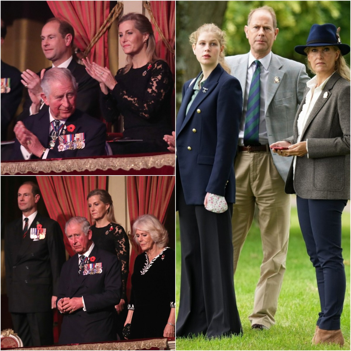 Collage of Prince Charles with the Wessexes