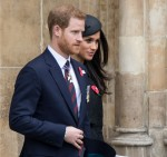 HRH Prince Harry, Meghan Markle leaving Westminster Abbey following the Service of Commemoration and Thanksgiving.