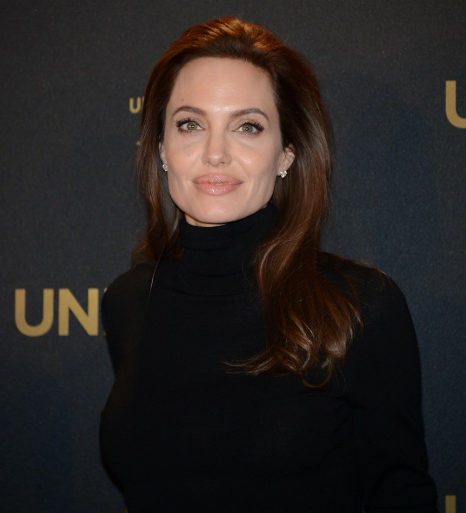 American actress Angelina Jolie during t..........