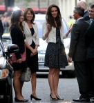 Royal wedding - Kate Middleton with mother and sister