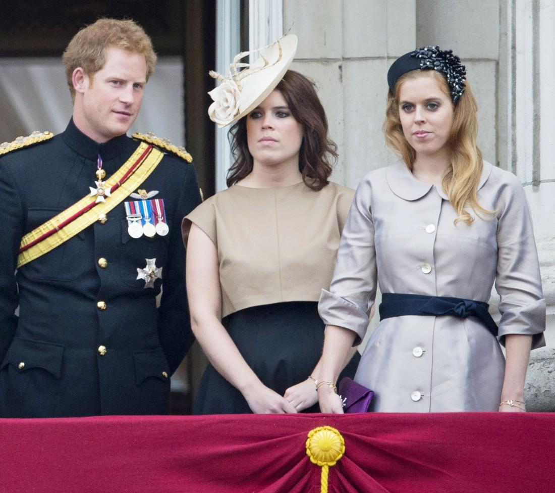 Britain's Prince Harry (L-R), Princess E..........