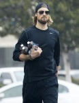 Gabriel Aubry spotted with an armful of Hydrogen Peroxide from CVS in LA