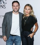 Scooter Braun and wife Yael Cohen arrive at the Los Angeles Premiere Of YouTube Originals' 'Justin Bieber: Seasons' held at the Regency Bruin Theatre on January 27, 2020 in Westwood, Los Angeles, California, United States.