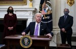 President Joe Biden delivers remarks on his administration's COVID-19 response, and signs executive orders and other presidential actions.