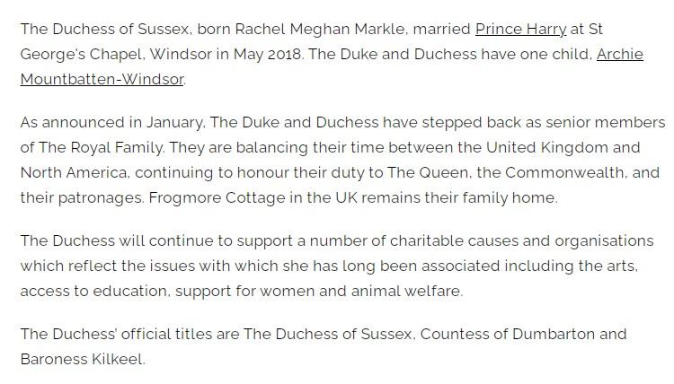 meghan royal gov website
