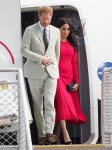 The Duke and Duchess of Sussex fly into Tonga during their royal tour