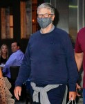 Bill Gates departs dinner at Nobu with daughter Phoebe Gates and her boyfriend Chaz Flynn in New York
