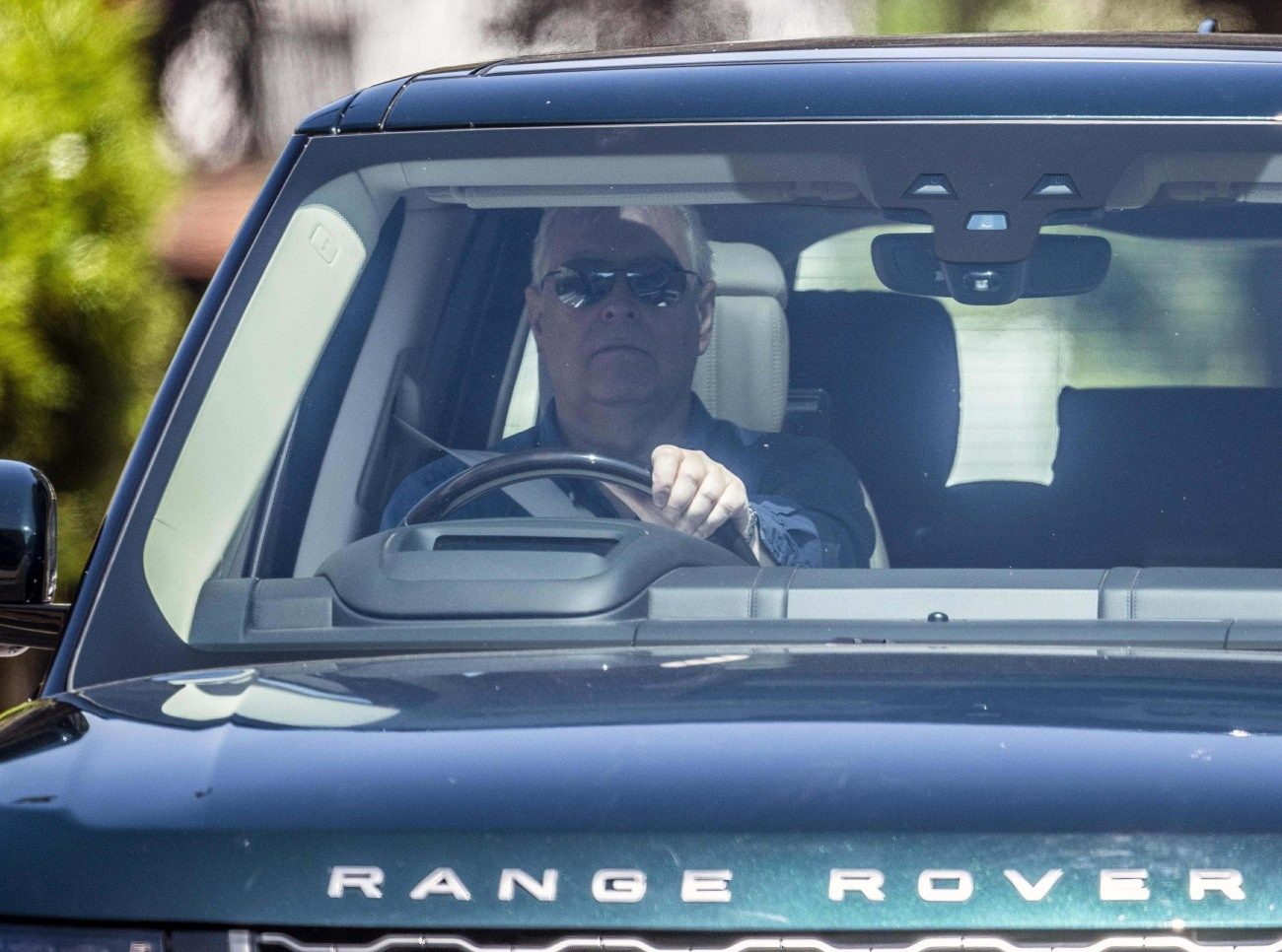 Prince Andrew spotted driving in Windsor
