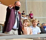 Prince Albert II of Monaco during the last day of the World Rugby Sevens Repechage tournament