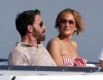 Jennifer Lopez pictured with Boyfriend Ben Affleck in Nerano
