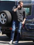 Ben Affleck pictured arriving at Gentle Giant Studios in Burbank