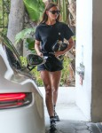 Irina Shayk heads to The Sunset Towers hotel in Hollywood